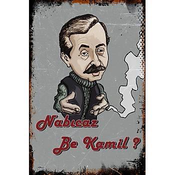 Nabýcaz be Kamil Retro Ahþap Poster 30x20