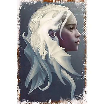 Khaleesi Retro Ahþap Poster 30x20