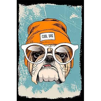 Cool Dog Retro Ahþap Poster 30x20