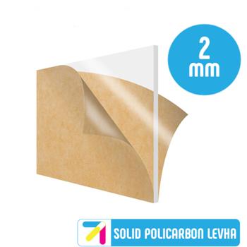 Pleksi Levha Solid Polikarbon Þeffaf (Renksiz) 2mm Her Boyutta