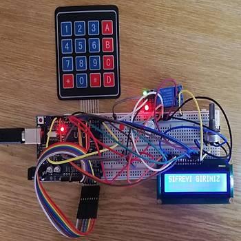 Arduino Þifreli Kapý Kilit Sistemi Projesi (Proje15)