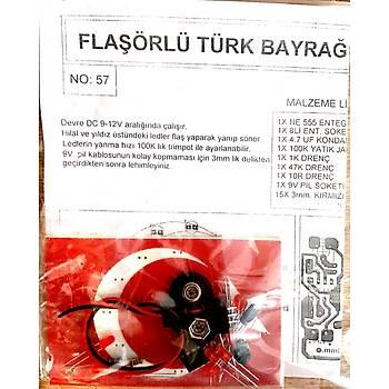 Flaþörlü Türk Bayraðý (Demonte)