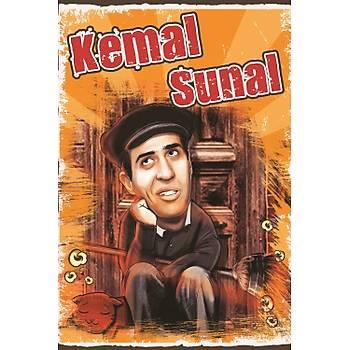Kemal Sunal Retro Ahþap Poster 30x20
