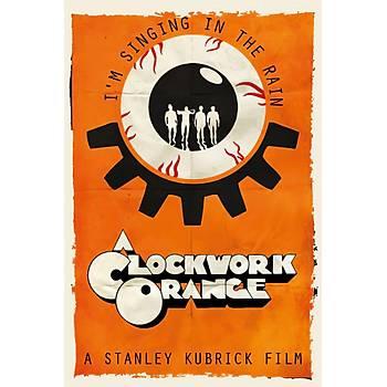 Clockwork Orange Retro Ahþap Poster 30x20