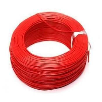 Çok Damarlý Zil Teli 1 metre Kýrmýzý kablo