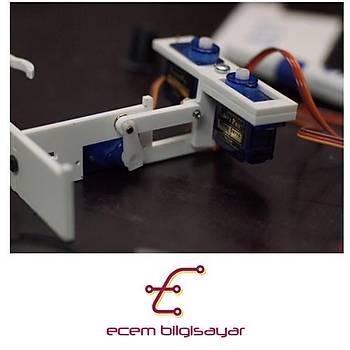 Arduino Plotclock Saat Yazan Robot (Lazer Kesim Demonte)(Tam Set)
