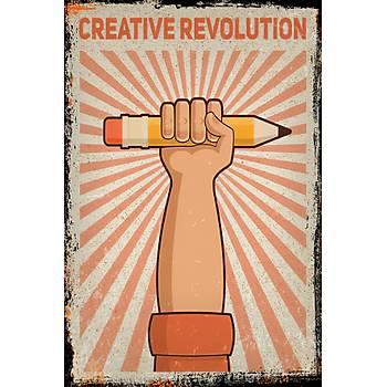 Creative Revolution Retro Ahþap Poster 30x20