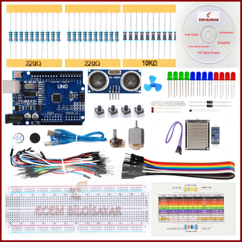 Arduino Baþlangýç Seti Maxi 20 Parça 122 Adet