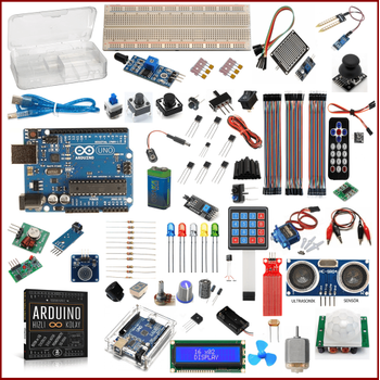 Arduino Baþlangýç Seti Uno R3 DIP Platinum 91 Parça 285 Adet
