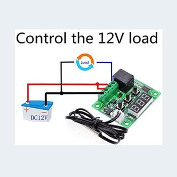 W1209 Dijital Termostat Kuluçka Akvaryum DC 12V (Adaptör Dahil )