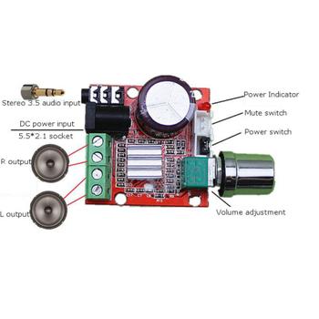 PAM8610 2x15W D Sýnýfý Stereo Amplifikatör Devresi Modülü