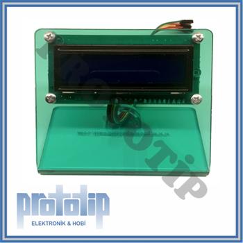 LCD Ekran Aparatý 2x16 Pleksi Kesim ( Arduino )