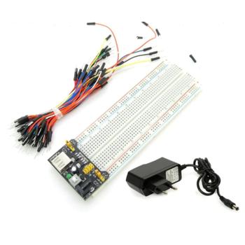 Breadboard + Adaptör + Power Supply + 65li Jumper Kablo