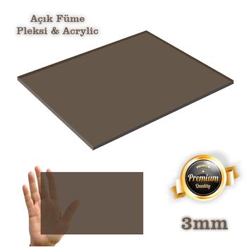 Pleksi Levha Füme 3mm Dökme Pleksiglass - Acrylic Her Boyutta