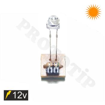 4.8mm 12v Led Modülü Mantar Amber