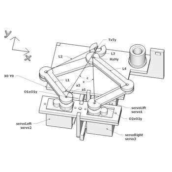Arduino Plotclock Saat Yazan Robot Parçalarý ( Lazer Kesim )