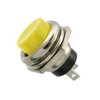 16mm Push Buton Metal Sarý ( Arduino - Elektronik )