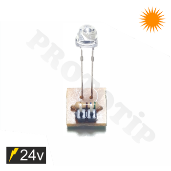 4.8mm 24v Led Modülü Mantar Amber