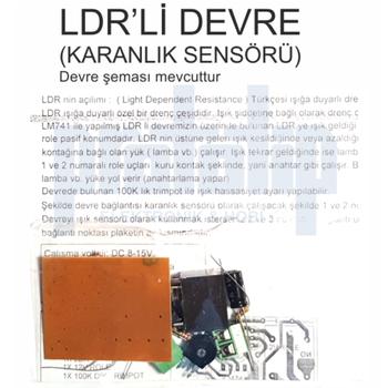 LDR Devre ( Karanlýk Sensörü ) Demonte