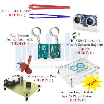Arduino Baþlangýç Seti UNO R3 DIP - Turbo V2. 107 Parça 344 Adet
