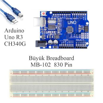 Arduino Öðreniyorum Seti UNO R3 ( CH340 ) 46 Parça 176 Adet