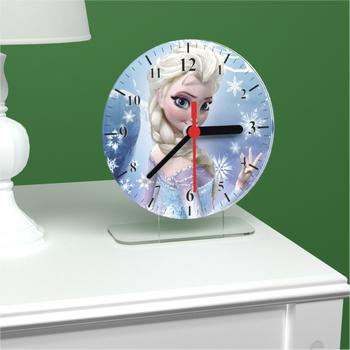 Frozen Elsa Akrilik Masa Saati A Kalite Parlak ve Dekoratif 0.1