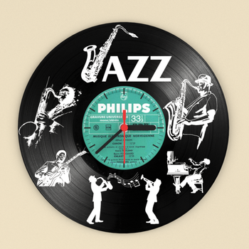 Plak Jazz Temalý Pleksi Duvar Saati