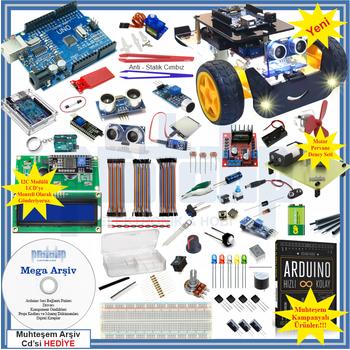 Arduino Baþlangýç Seti UNO R3 CH340 -Turbo V2. 107 Parça 344 Adet
