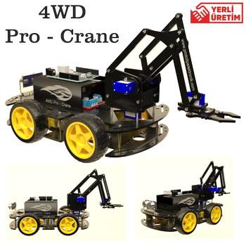 Arduino 4WD Robot Kollu Ýlk ve Tek 4WD PRO - CRANE