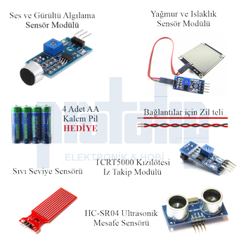 Arduino Baþlangýç seti UNO R3 Turbo V2. 112 Parça 359 Adet