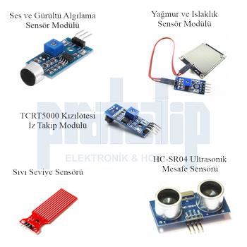 Arduino Baþlangýç Seti UNO R3 ( DIP Model ) 107 Parça 344 Adet