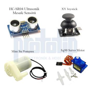 Arduino UNO R3 ( CH340G ) Ekonomik Set 67 Parça 235 Adet