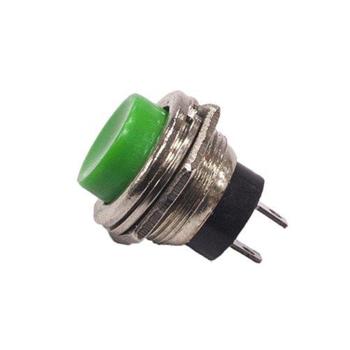 16mm Push Buton Metal Yeþil ( Arduino - Elektronik )