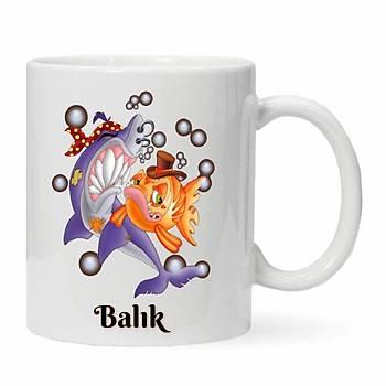 Balýk Burcu Baskýlý Kupa Bardak