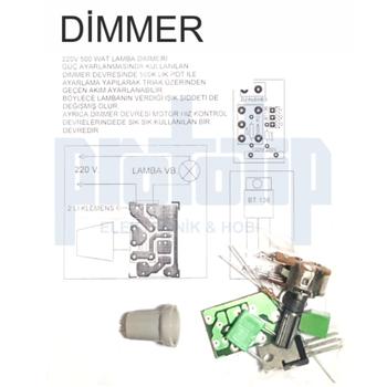 220V 500 Watt Lamba Dimmer Devresi Demonte