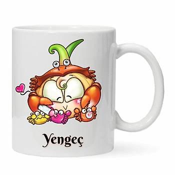 Yengeç Burcu Baskýlý Kupa Bardak