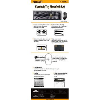 A4 TECH KR-9276 Q USB STANDART KLAVYE+OPTÝK MOUSE