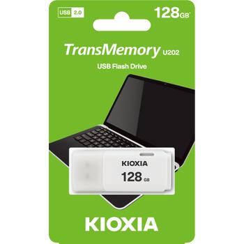 128GB USB2.0 KIOXIA BEYAZ USB BELLEK LU202W128GG4
