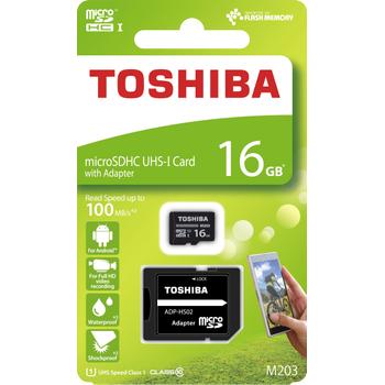 16GB MICRO SDHC UHS-1 C10 100MB/sn TOSHIBA THN-M203K0160EA