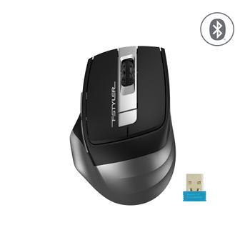 A4 TECH FB35 OPTIK MOUSE BLUETOOTH+NANO USB GRÝ