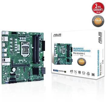 ASUS PRO B560M-C/CSM 4600Mhz(OC) DDR4 M.2 HDMI DP mATX 1200p