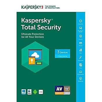 KASPERSKY TOTAL SECURITY 3 KUL 1 YIL