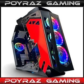 POYRAZ GAMING ÝNTEL Ý9-9900KF -16GB RAM- 250 GB M2 SSD 3510MB/3148MB/S + 2TB HDD + GTX1650 4GB EKRAN KARTI + 500W 80+ GAMING KASA TAMPERLÝ
