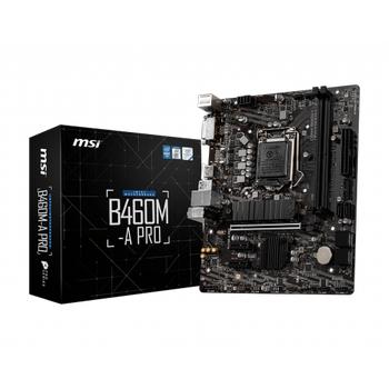 MSI B460M-A PRO DDR4 2933Mhz HDMI DVI-D mATX 1200p