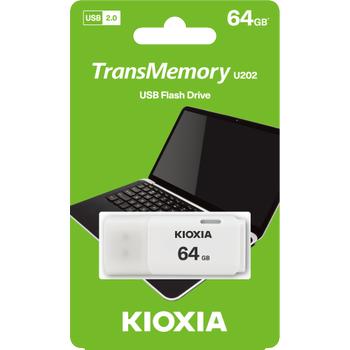 64GB USB2.0 KIOXIA BEYAZ USB BELLEK LU202W064GG4