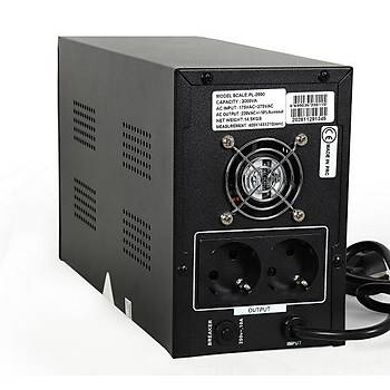POWERFUL UPS PL-2000 2000VA 5-12DK KESÝNTÝSÝZ GÜÇ KAYNAÐI