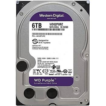 6TB WD Purple SATA 6Gb/s 64MB DV 7x24 WD62PURZ
