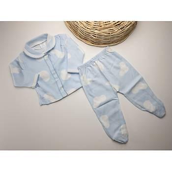 Mavi Bulutlu Pijama Takýmý