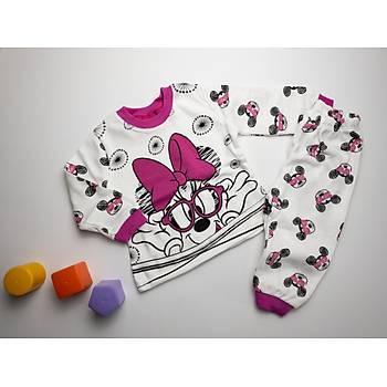 Pembe Baskýlý Bebek Pijama Takýmý