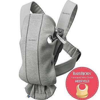 BabyBjörn Kanguru Mini 3D Cotton Jersey / Light Grey